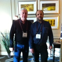 Amedeo Schembri of ViVa Audio, Italy and I in our show room.  He's a genius designer and a really nice guy.