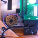 braided motor wiring connected to Lingo power supply's board