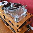 Basis 2200 Signature Series turntable spinning music into the room.