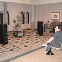 Another view of the MIT Cables Oracle MA speaker interfaces with Audio Research and Magico Q3.