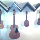 The two little soprano ukuleles on the right are the instruments we came home with today.