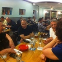 "some of our group at the Beachwood BBQ in Seal Beach, CA.  Awesome food here and check out their ""live hop cam"" for what's on tap at any given moment.  http://beachwoodbbq.com/hopcam.html"